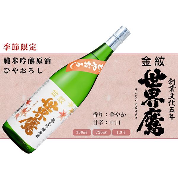 金紋世界鷹 純米吟醸原酒 ひやおろし